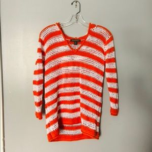 Tommy Bahama striped open knit hooded sweater   S